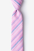 Pink Cotton Katy Skinny Tie