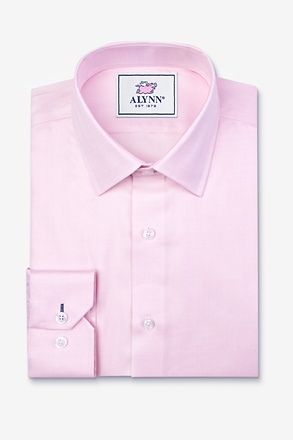 _Oliver Herringbone Pink Slim Fit Dress Shirt_