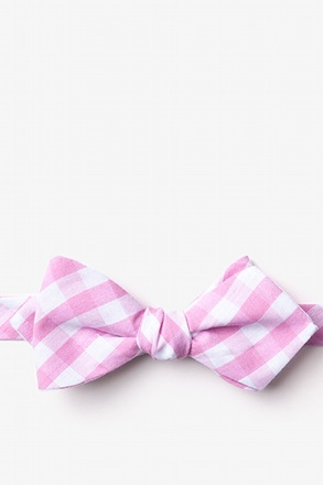 _Pasco Pink Diamond Tip Bow Tie_