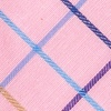Pink Cotton Pink Reece Check Skinny Tie