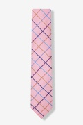 Pink Reece Check Skinny Tie