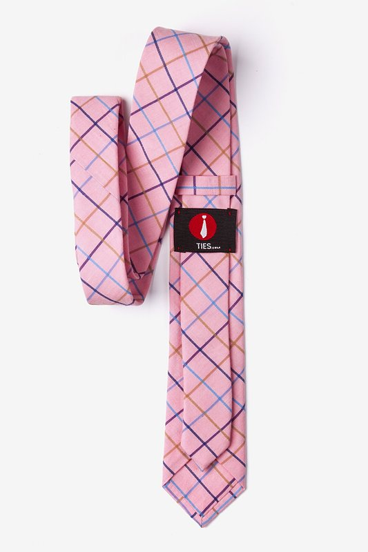 Pink Reece Check Skinny Tie Photo (2)
