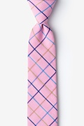 Pink Reece Check Skinny Tie Photo (0)