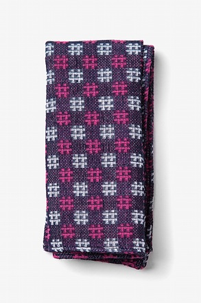 Roseburg Pink Pocket Square
