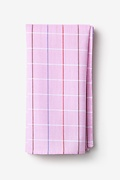 Pink Cotton Seattle Pocket Square