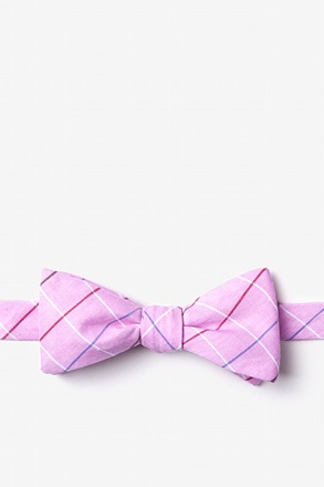 _Seattle Pink Skinny Bow Tie_