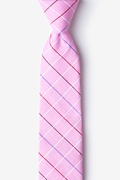 Pink Cotton Seattle Skinny Tie