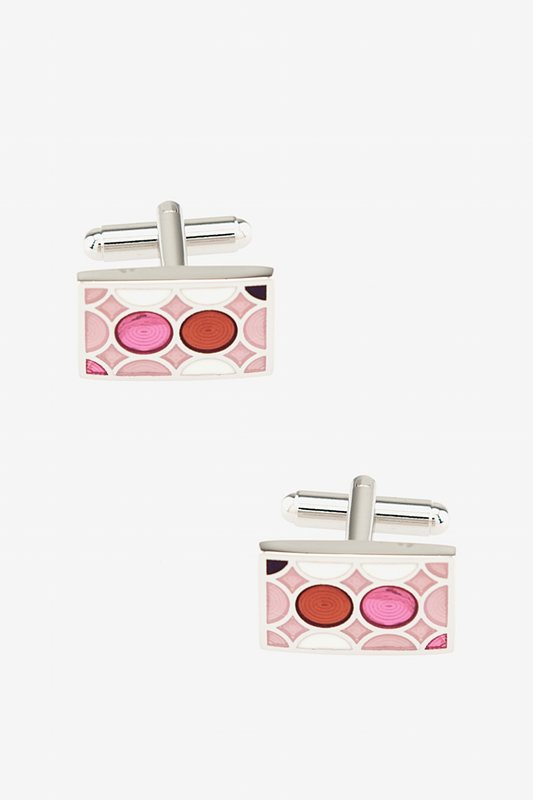 Circles Stained Glass Cufflinks