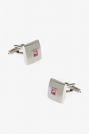 _Framed Square Rhinestone Cufflinks_
