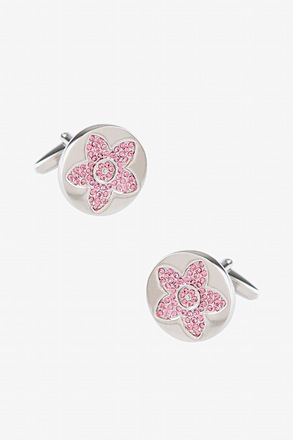 Rhinestone Bloom Cufflinks