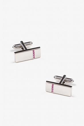 _Rhinestone Striped Bar Cufflinks_