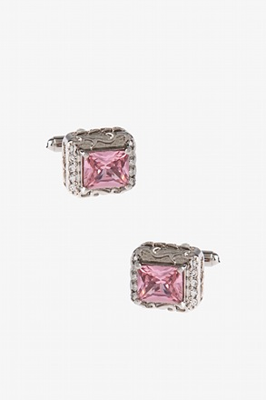 Thick Bejeweled Box Cufflinks