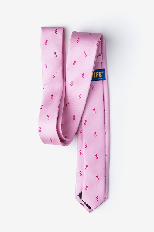 Breast Cancer Ribbon Skinny Tie