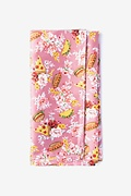 Pink Microfiber Fast Food Floral Pocket Square