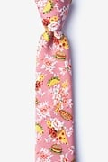 Fast Food Floral Skinny Tie Photo (0)