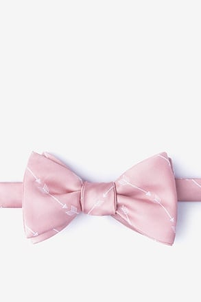 _Flying Arrows Pink Self-Tie Bow Tie_