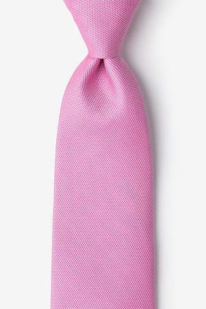 Pink Icing Textured Extra Long Tie