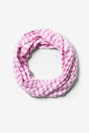 Pink Polyester Carnival Stripe Pink Infinity Scarf