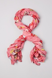 Pink Polyester Flight of the Butterflies Scarf