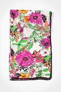 Floral Bouquet Pink Scarf by Scarves.com