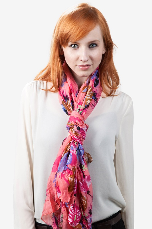 Floral Garden Pink Scarf by Scarves.com