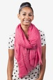 Pink Polyester Safi Studded Scarf