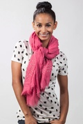 Safi Studded Pink Scarf by Scarves.com