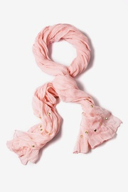 Pink Polyester Tell Me About It Stud Scarf