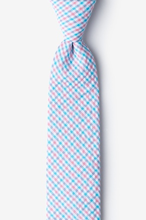 Chrome Plaid Skinny Tie