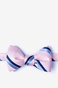 Pink Silk Axel Butterfly Bow Tie