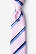 Pink Silk Axel Extra Long Tie