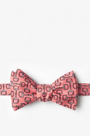 Bit by Bit Pink Self-Tie Bow Tie