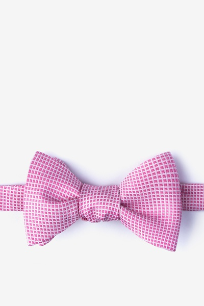 Silk Dot Pink Self Tie Bow Tie