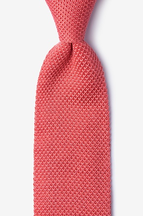 Classic Solid Pink Knit Tie