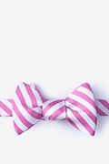 Pink Silk Glyde Self-Tie Bow Tie