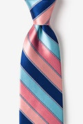 Pink Silk Know the Ropes Extra Long Tie