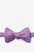 Pink Silk Micro Sharks Self-Tie Bow Tie