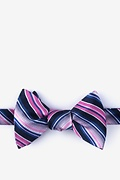 Pink Silk Moy Self-Tie Bow Tie