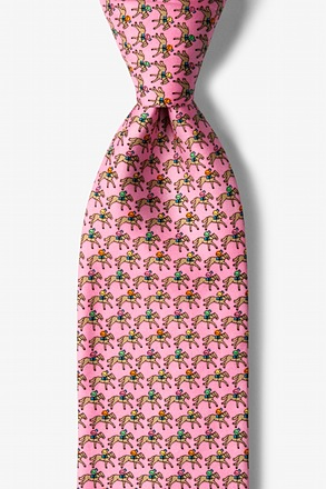 _One Horse Race Pink Tie_