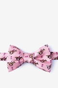 Pink Silk Race for the cure Self-Tie Bow Tie