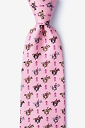 Pink Silk Race for the cure Tie