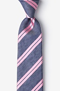 Pink Silk Wales Extra Long Tie