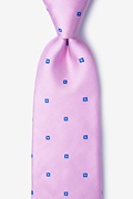 Pink Silk Wooley Extra Long Tie