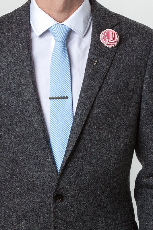 Brand new Pink Piped Flower Lapel Pin | Ties.com ZO37