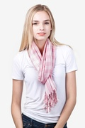 Picnic Check Pink Scarf by Scarves.com