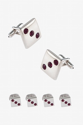 Three's Cufflink & Stud Set
