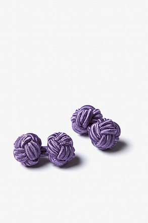 Light Plum Solid Knot Cufflinks