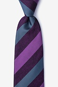 Plum Silk Dee Extra Long Tie