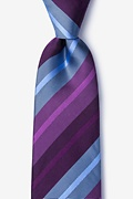 Plum Silk Finn Extra Long Tie