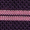 Plum Silk Roman Stripe Knit Tie